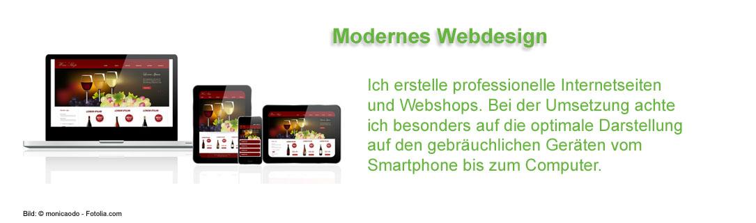 Ich erstelle professionelle Internetseiten. Bei der Umsetzung achte ich besonders auf die optimale Darstellung auf Smartohone und Computer.